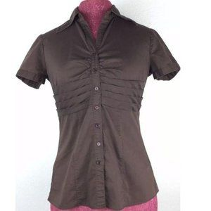 New York Company Stretch Womens Top Size 2 Brown
